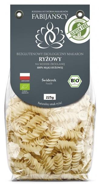 Makaron (z ryżu białego) świderki fusilli bezglutenowy bio 225 g Fabijańscy