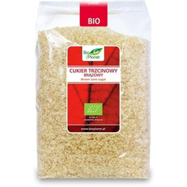 Cukier trzcinowy brązowy demerara  bio 1 kg - bio planet