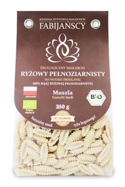Makaron ( z ryżu białego) muszla gnocchi sardi bezglutenowy bio 225 g Fabijańscy