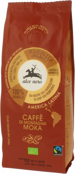 Kawa 100% Arabica Moka Fair Trade bio 250g - Alce Nero