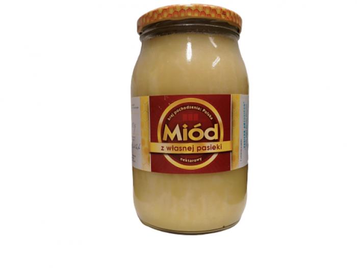Miód nektarowy, wielkokwiatowy 1200 g Pasieka Antoni Marcinek