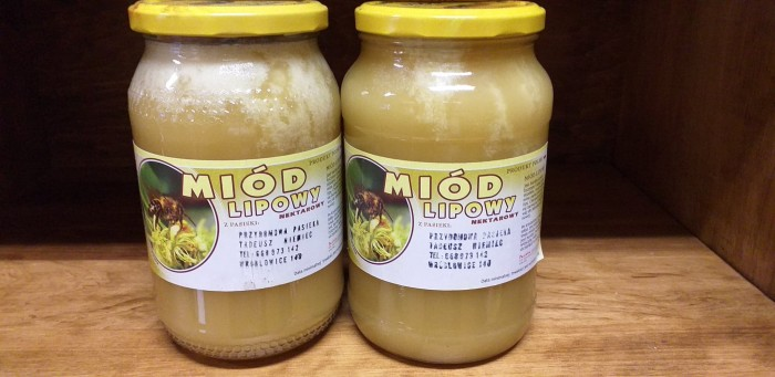 Miód lipowy nektarowy Pasieka Tadeusz Niemiec 1250 g