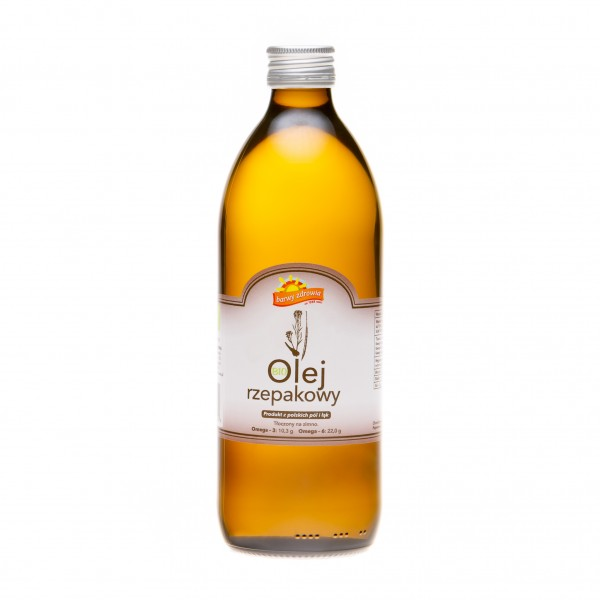 Ekologiczny olej rzepakowy 0,5 l