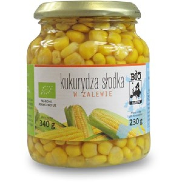 Kukurydza słodka w zalewie w słoiku bio 340 g - BIO EUROPA
