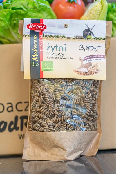 Bio makaron żytni  razowy z pełnego przemiału - świderek 250 g