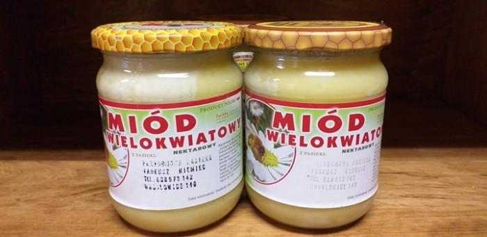 Miód wielokwiatowy  nektarowy Pasieka Tadeusz Niemiec mały 550g