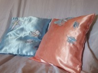 Eko poduszka różowe motyle