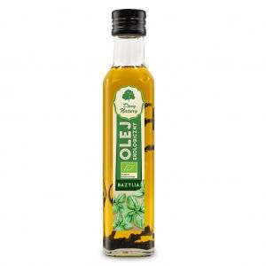 Olej rzepakowy bazylia tłoczony na zimno eko 0,25 l DARY NATURY