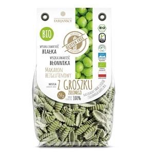 Makaron z groszku zielonego bezglutenowy  bio muszla 250g