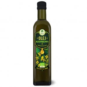Olej rzepakowy ekologiczny tłoczony na zimno 500 ml DARY NATURY