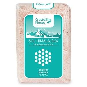 Sól himalajska różowa drobno mielona 600g - Crystalline Planet