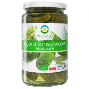 Ogórki kiszone bio 700 g (400 g) BIO FOOD