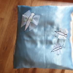 Eko poduszka niebieskie motyle