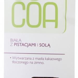 Tabliczka biała z pistacjami i solą bio 50 g COCOA