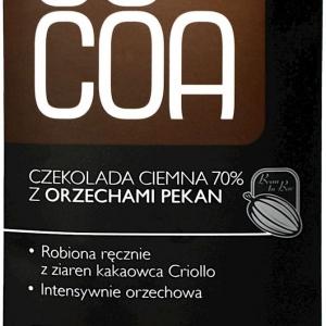 Czekolada gorzka 70% z orzechami pekan bio 50 g COCAO