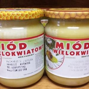 Miód wielokwiatowy  nektarowy Pasieka Tadeusz Niemiec mały 0,32 l