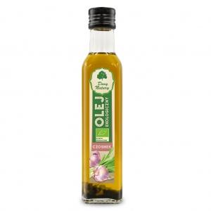 Olej rzepakowy czosnek tłoczony na zimno eko 0,25 l DARY NATURY