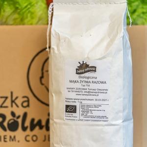 Mąka żytnia razowa TYP 750 - opakowanie 1kg ekologiczna Barwy Zdrowia